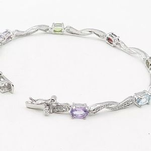 Jewelry - MULTICOLORED GEMSTONE AND DIAMOND BRACELET